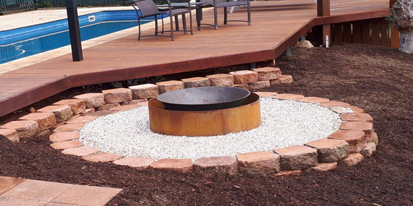 firepit construction byron bay