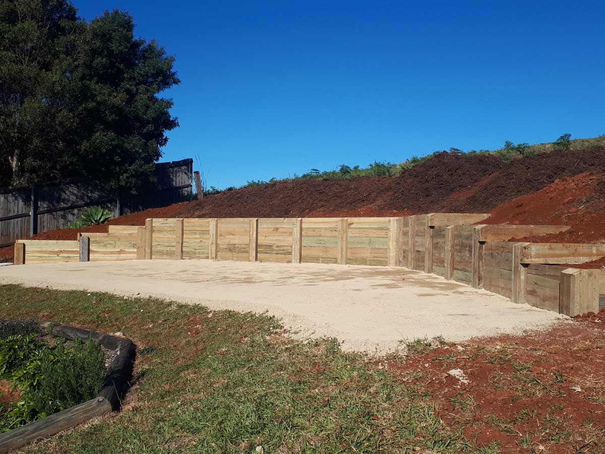 Byron Bay landscaping retaining wall
