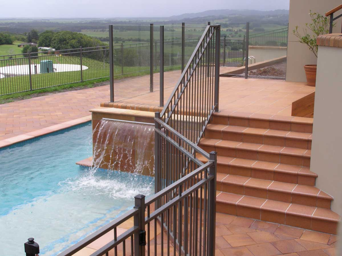 Lennox Head landscaping pool and sorround