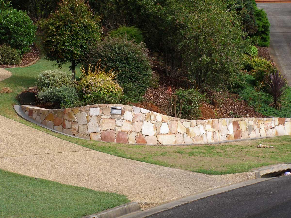 tweed coast landscaping stone wall